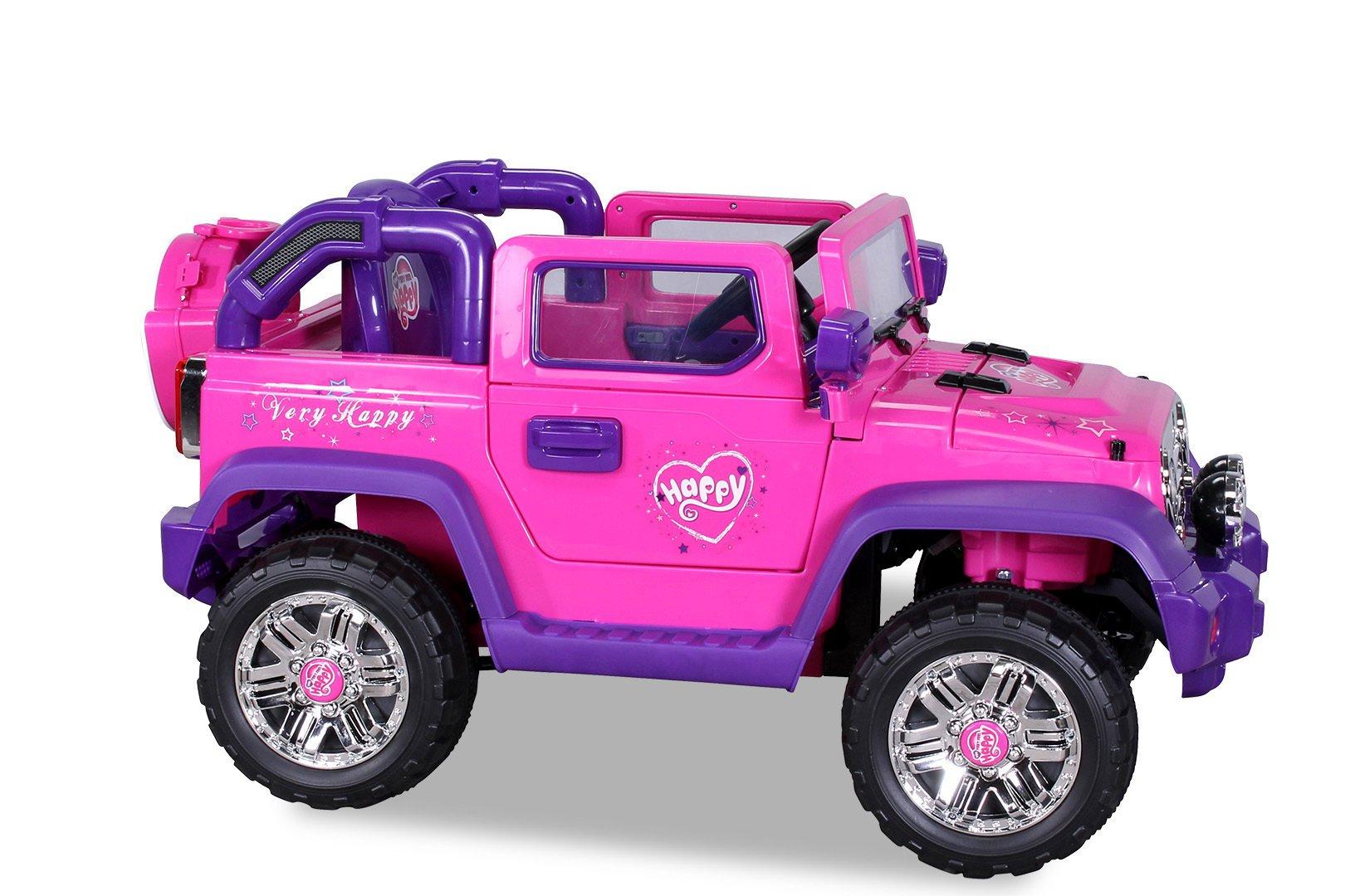 jeep rosa 12v infantil pekecars width=