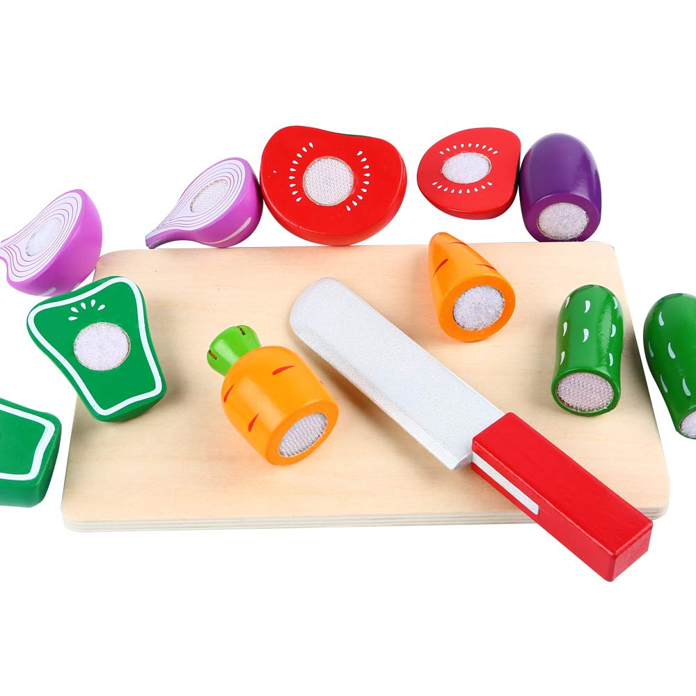 cortar verduras de madera niños