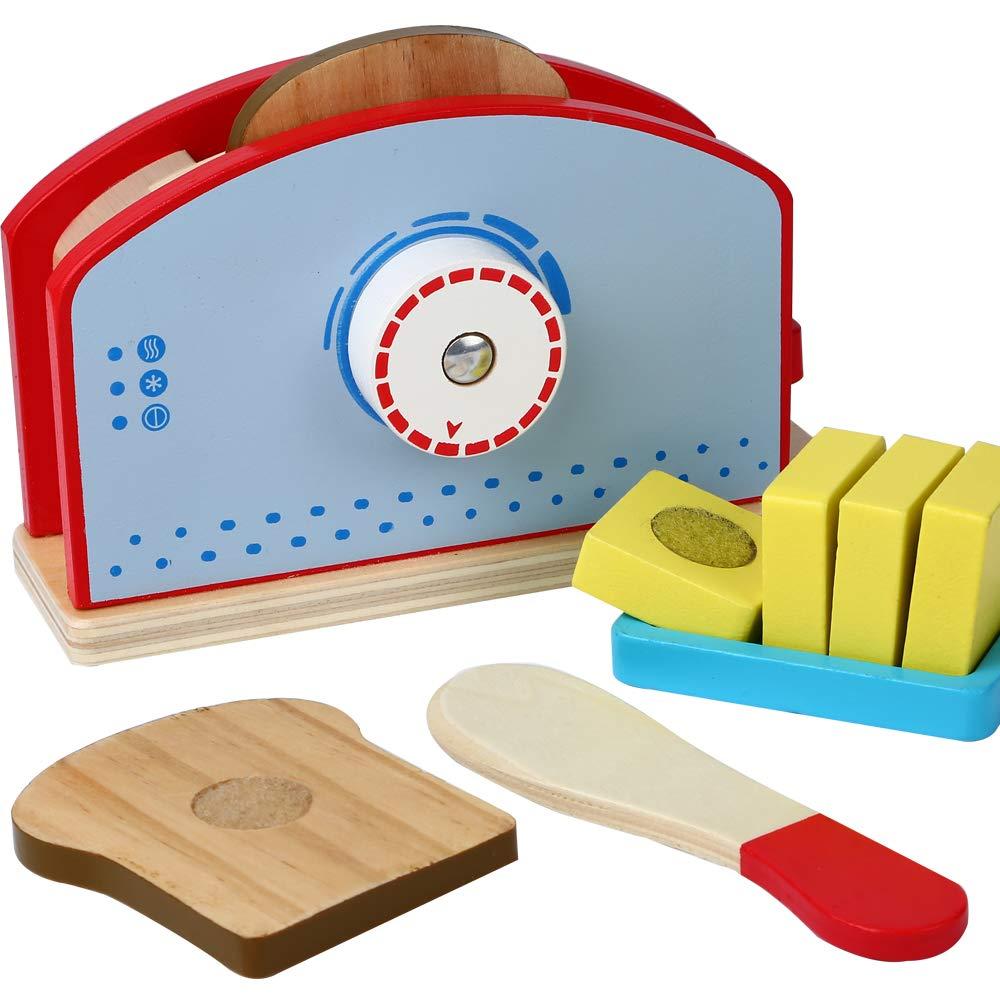 tostadora de madera para niños