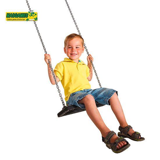 Asiento de caucho con cadenas BASIC - con niño