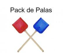 Pack de palas de madera para tractores