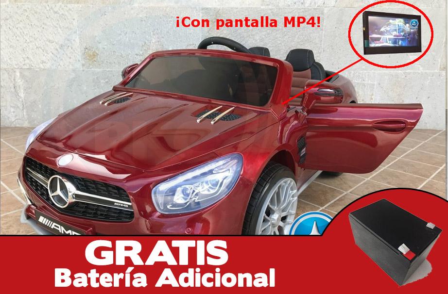 Mercedes SL65 con pantalla mp4 rojo metalizado