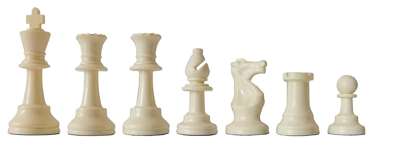 piezas blancas de ajedrez