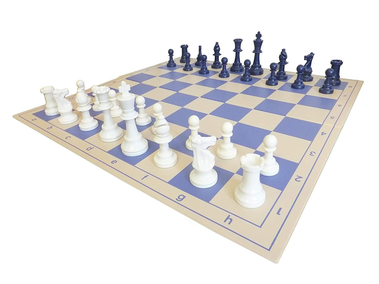 set de ajedrez azul width=