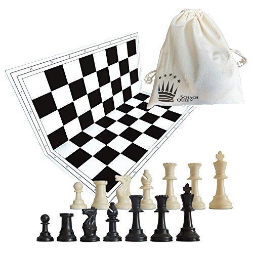 set de ajedrez Negro Blanco
