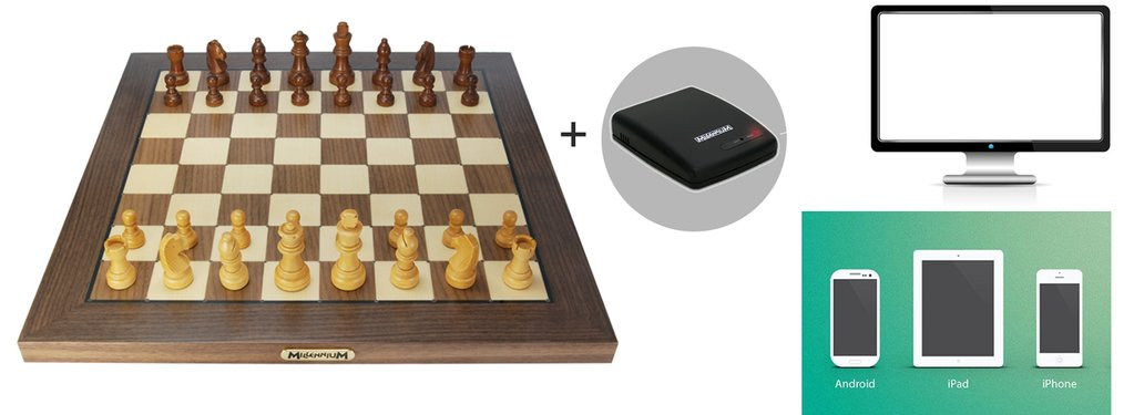 Combinación de Tablero Electronico Chess Genius Exclusive con el dispositivo ChessLink