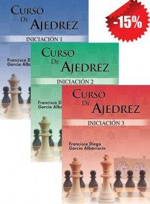 Libro curso iniciación Ajedrez 1,2,3 PACK completo