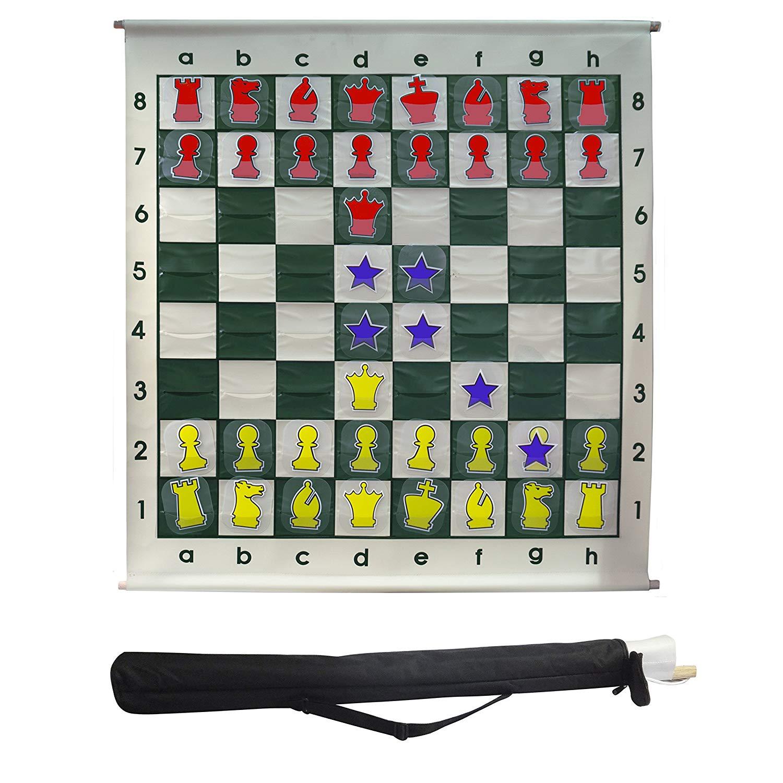 mural de ajedrez enrollable XXL