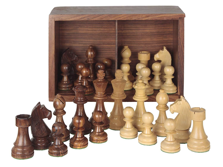 piezas de ajedrez staunton 6 madera plomadas