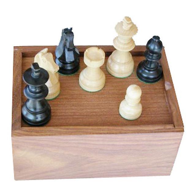 piezas de ajedrez con caja de madera staunton 6 madera plomadas