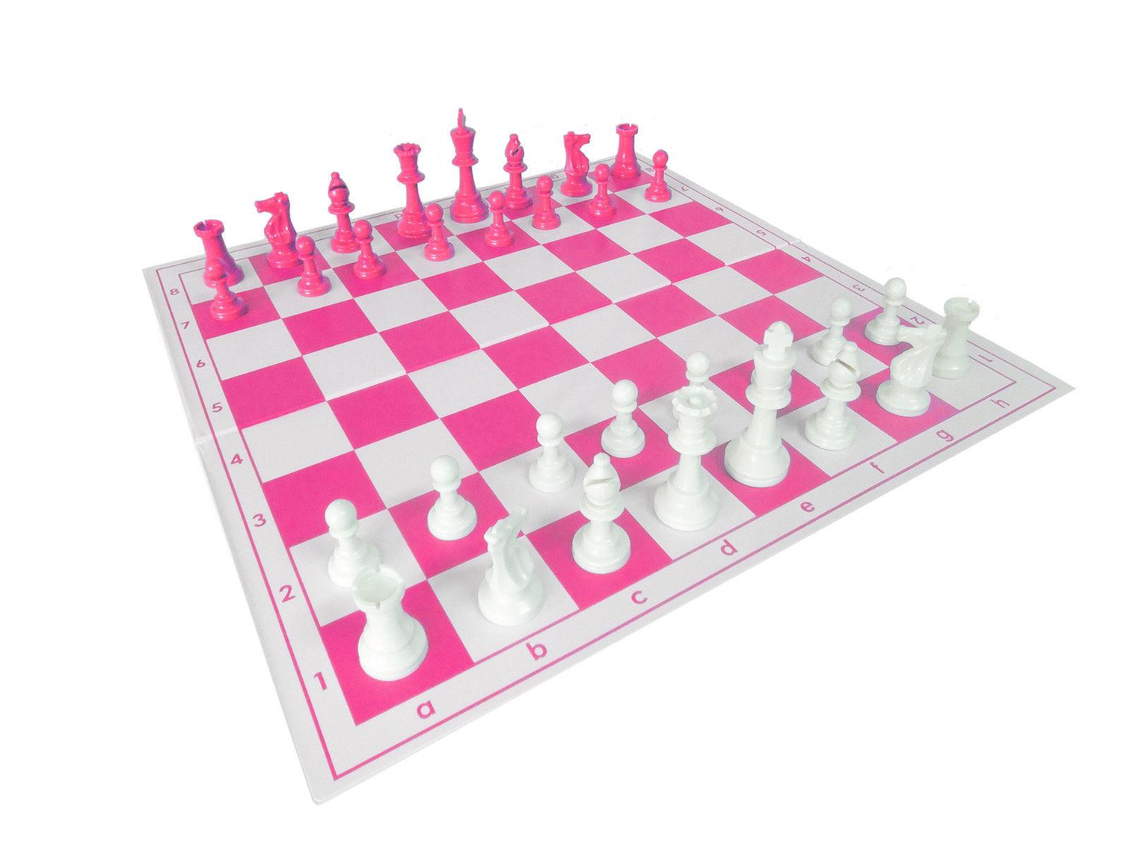 set de ajedrez rosa width=