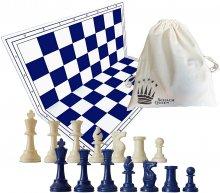 set de ajedrez en color azul