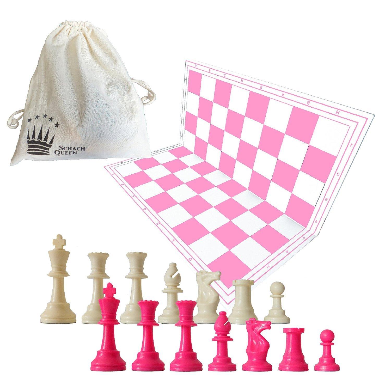 set de ajedrez rosa