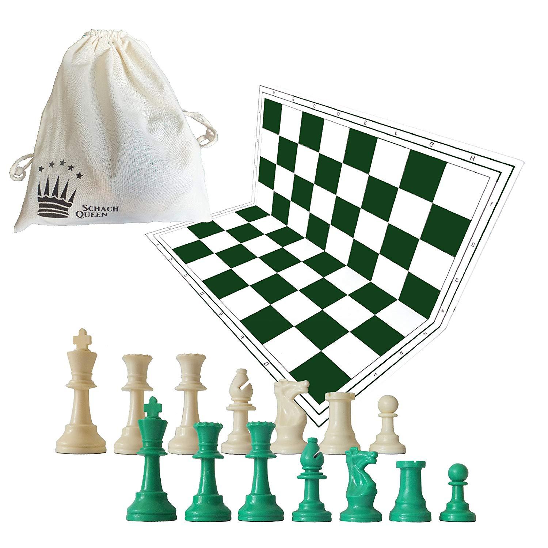 set de ajedrez verde