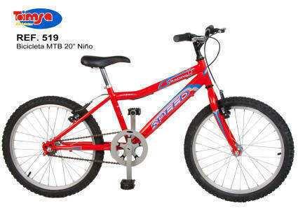 Bicicleta MTB 20 pulgadas para niños