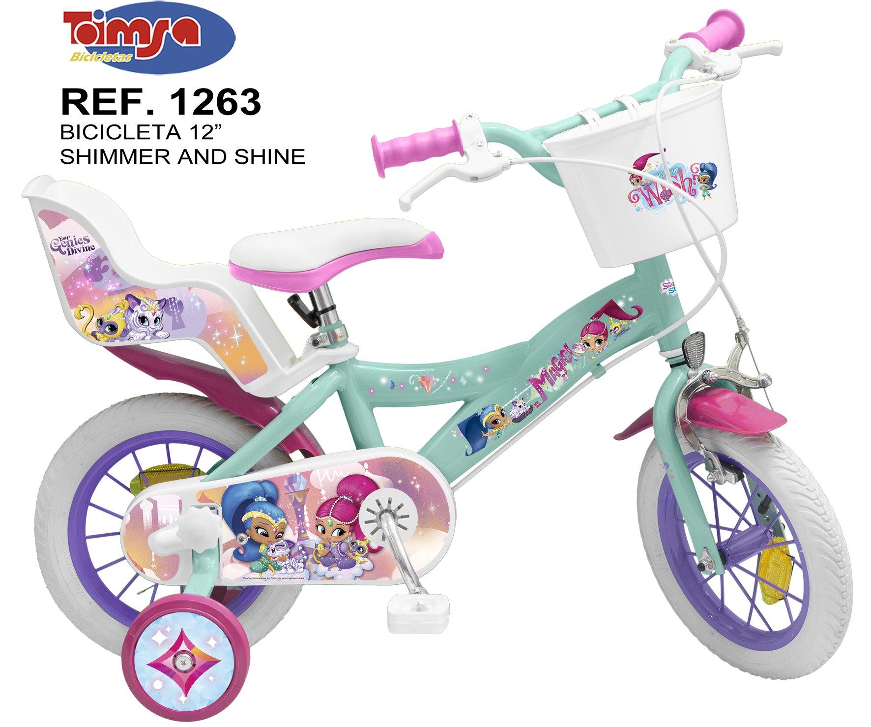 Bicicleta Shimmer and Shine 12 pulgadas