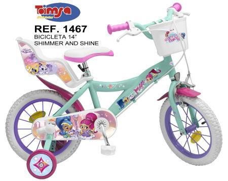 Bicicleta Shimmer and Shine 14 pulgadas