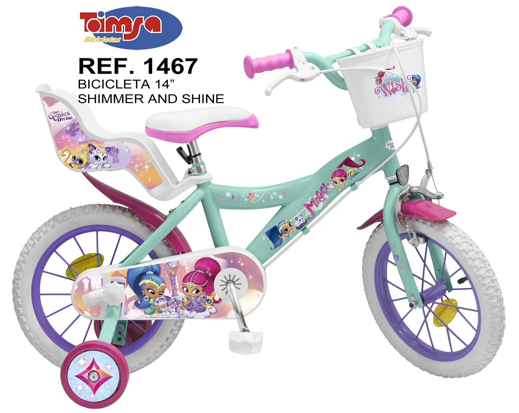 Bicicleta Shimmer and Shine 14 pulgadas