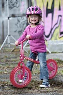 Bicicleta Evolutiva Bubble Pink con niña