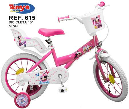 BICICLETA MINNIE CLUB HOUSE 16