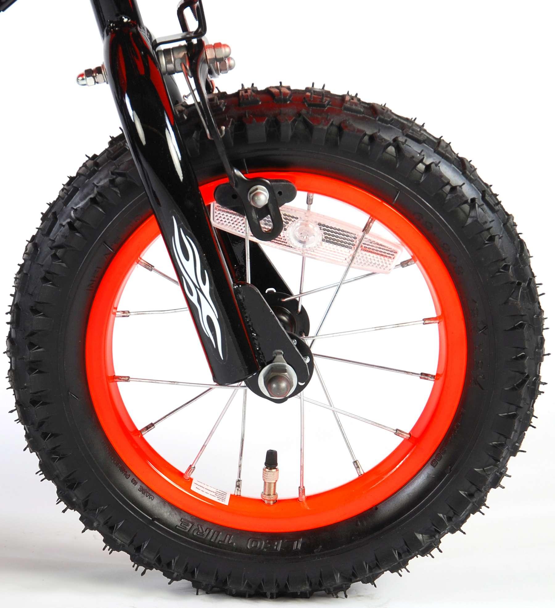 Bicicleta Motorbike de 12 pulgadas Naranja - rueda delantera