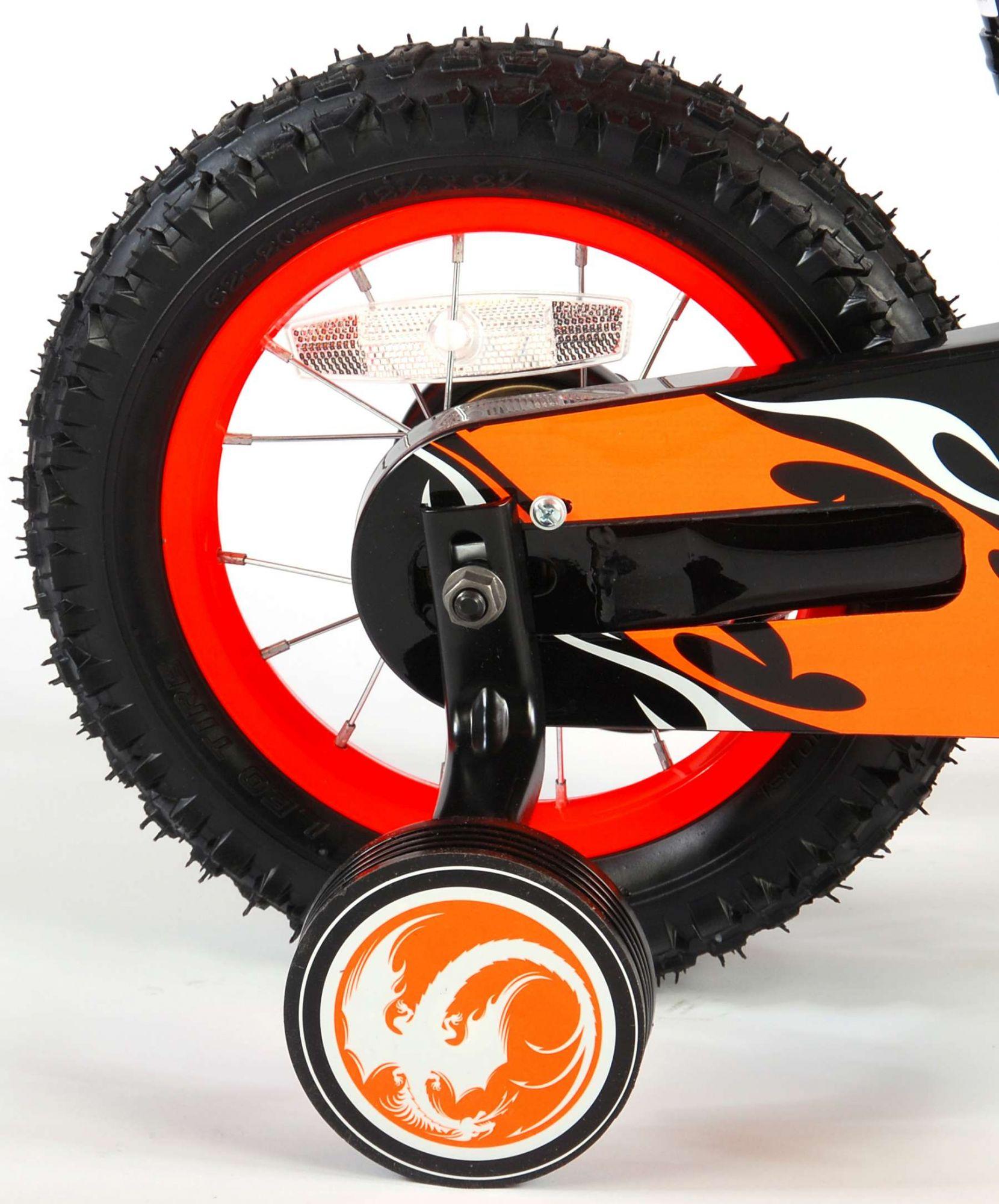 Bicicleta Motorbike de 12 pulgadas Naranja - rueda trasera
