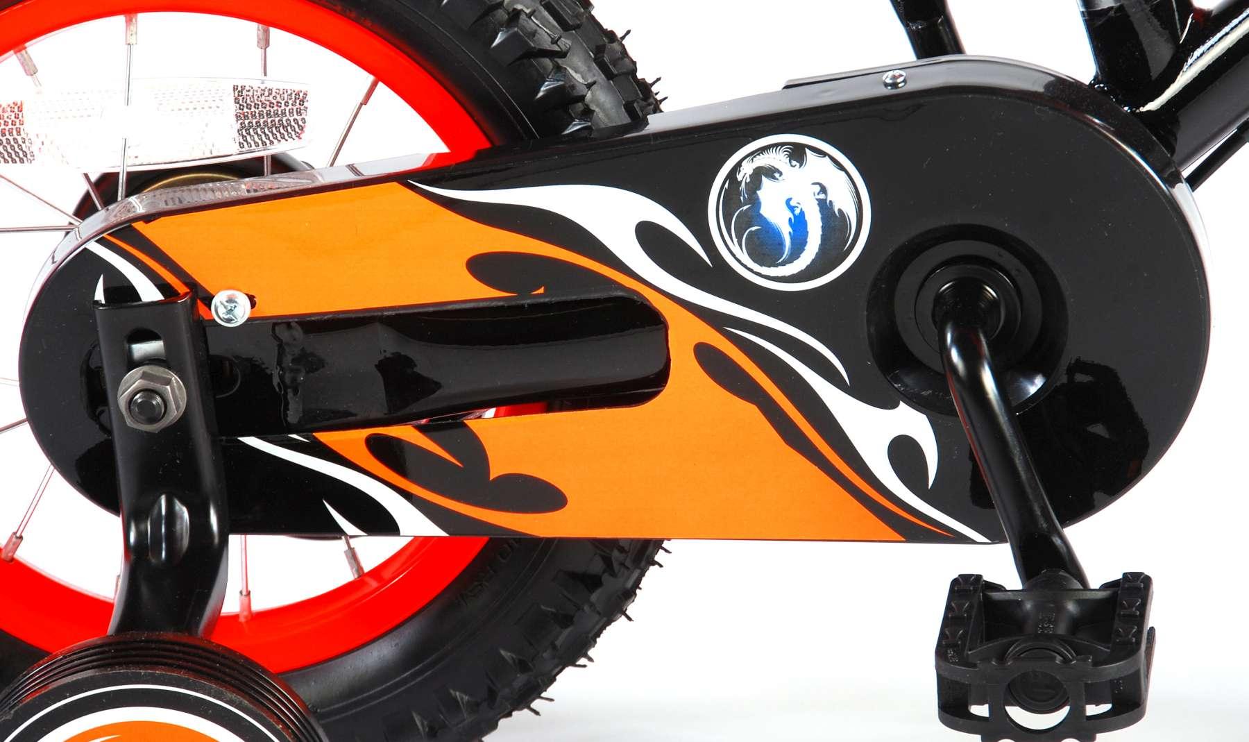 Bicicleta Motorbike de 12 pulgadas Naranja - cadena