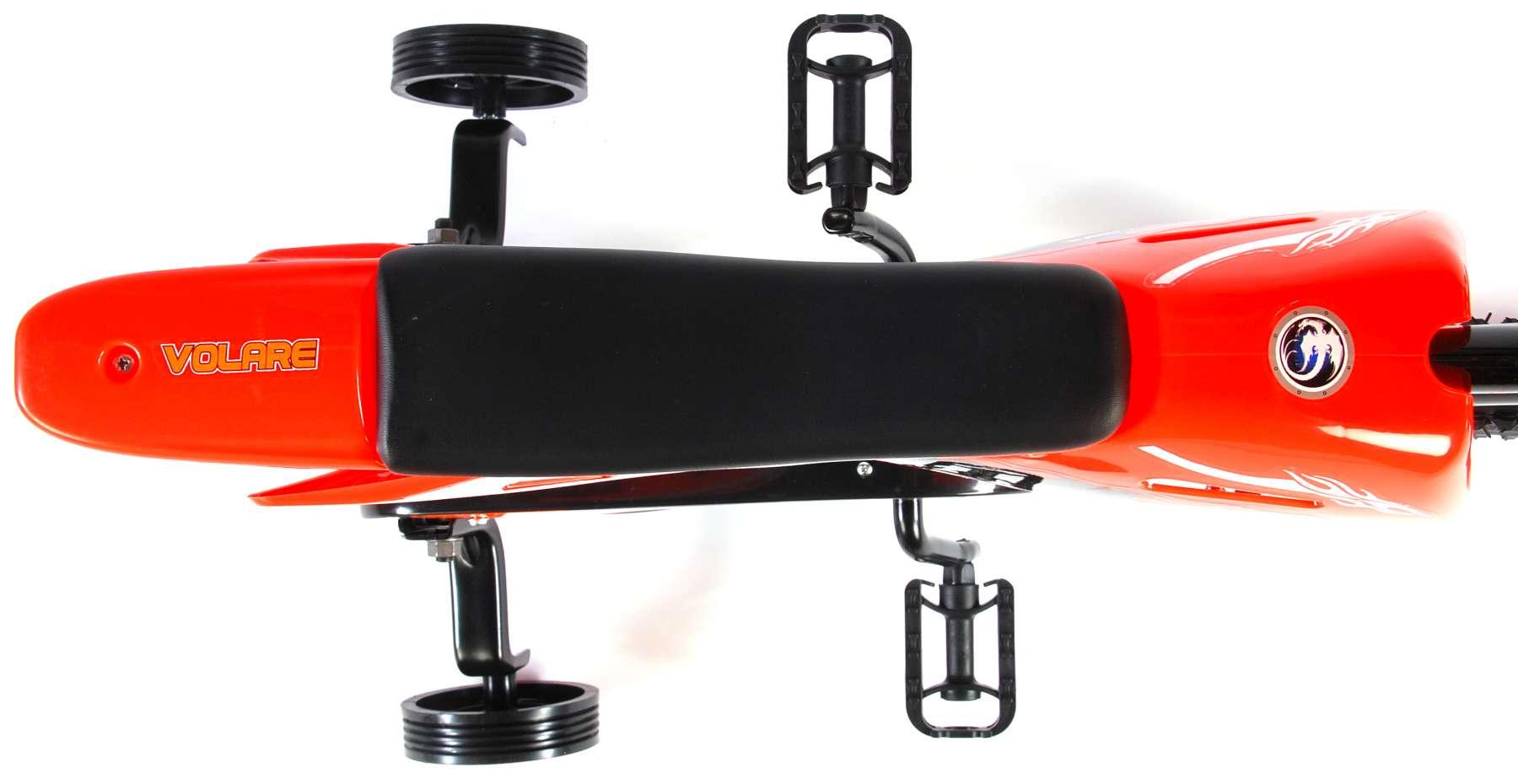 Bicicleta Motorbike de 12 pulgadas Naranja - vista superior