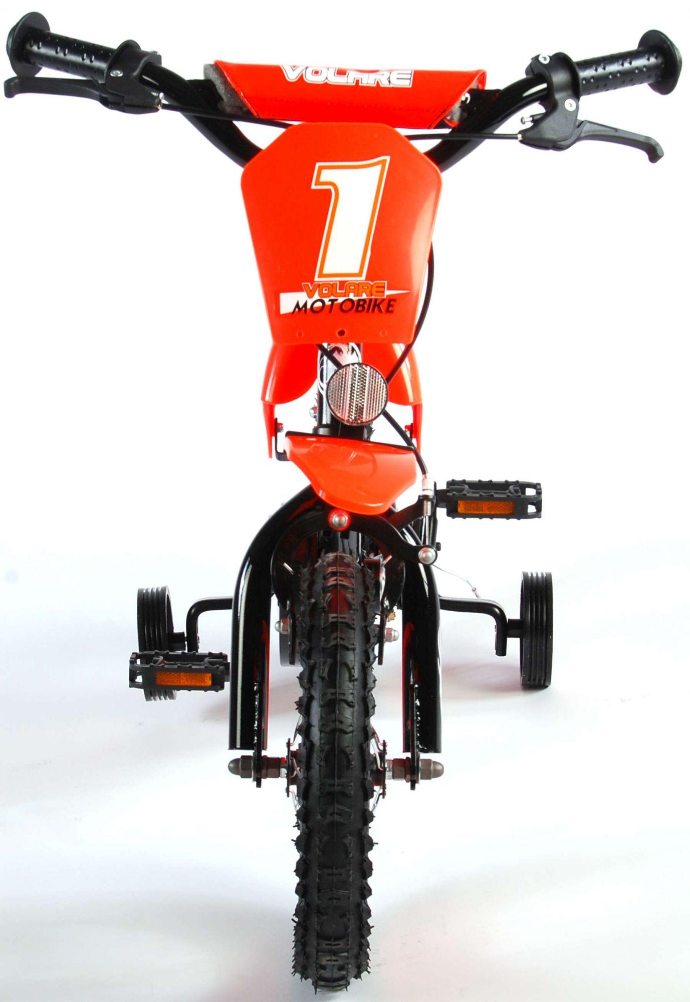 Bicicleta Motorbike de 12 pulgadas Naranja - vista frontal