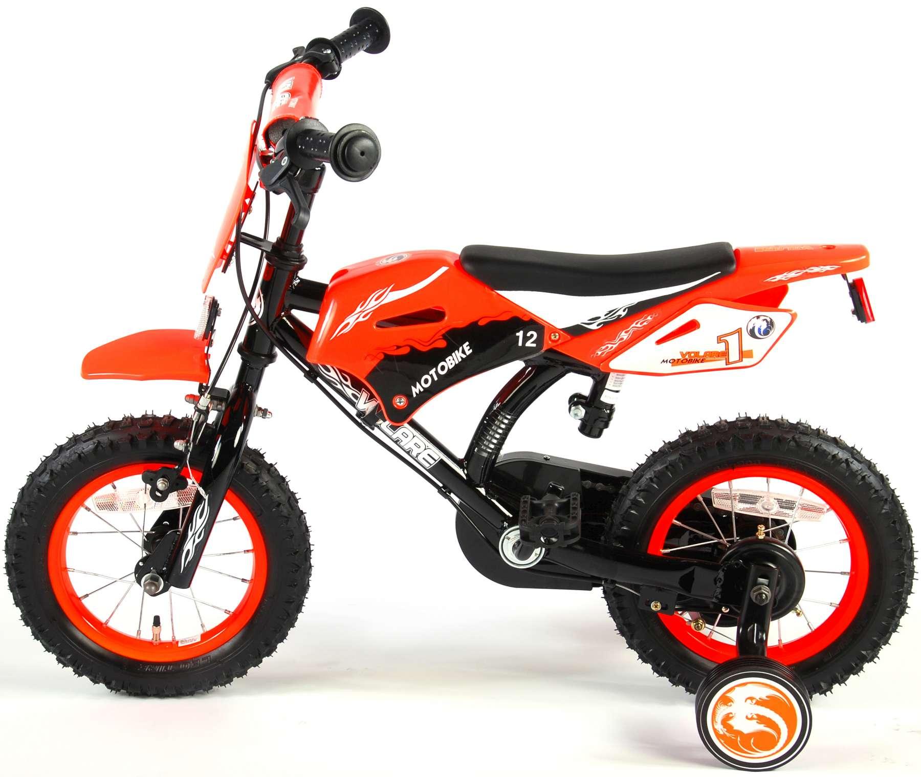 Bicicleta Motorbike de 12 pulgadas Naranja - vista lateral der.