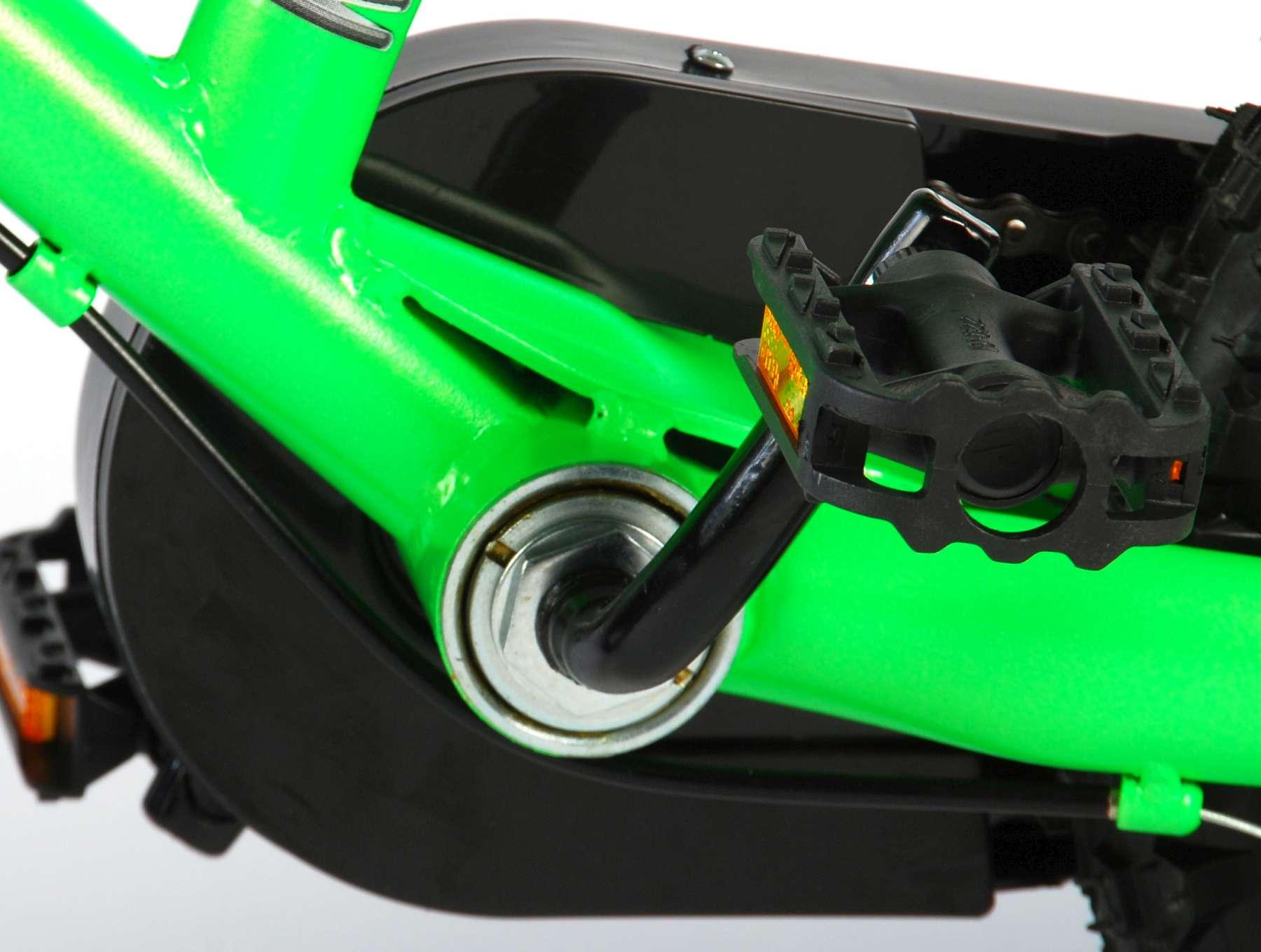 Bicicleta Motorbike de 12 pulgadas Verde - pedales
