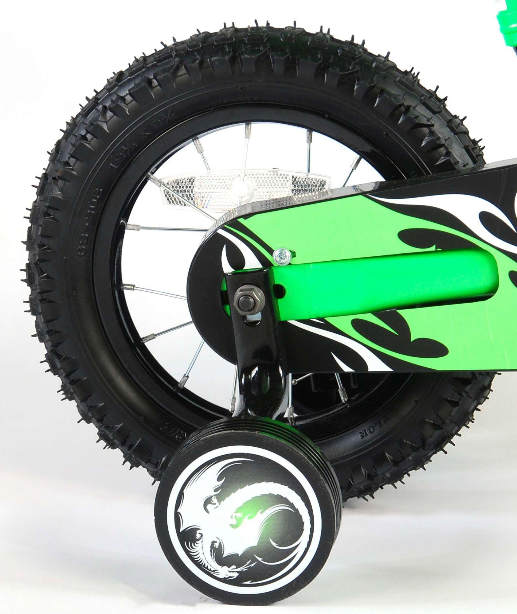Bicicleta Motorbike de 12 pulgadas Verde - rueda trasera