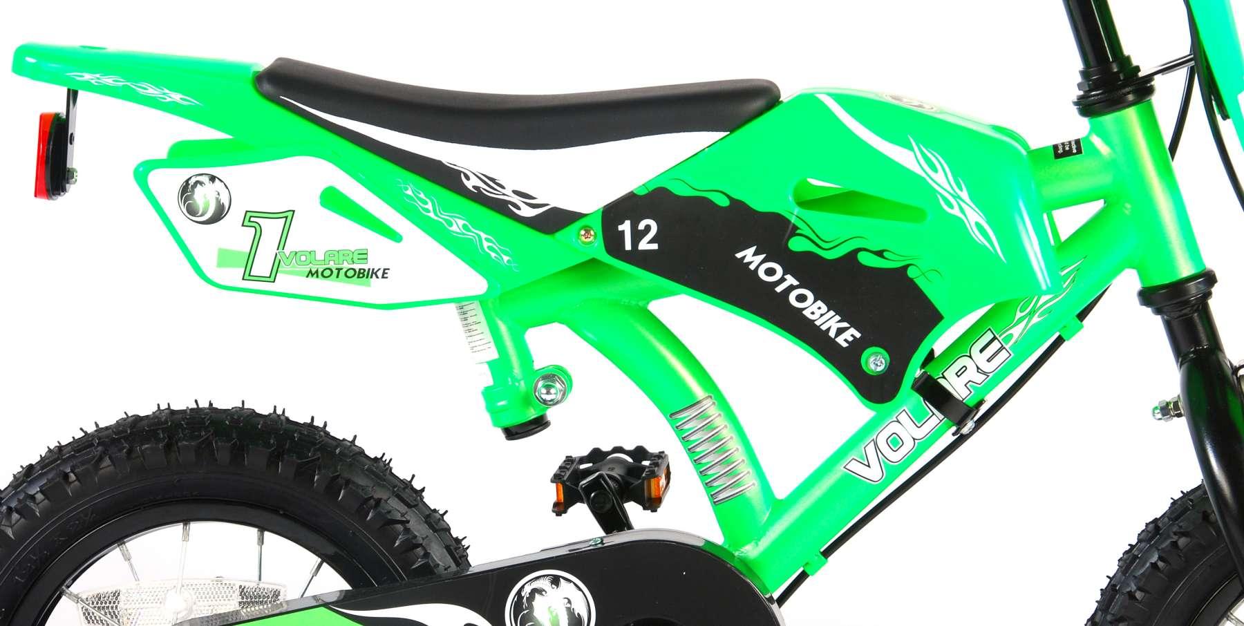 Bicicleta Motorbike de 12 pulgadas Verde - estructura
