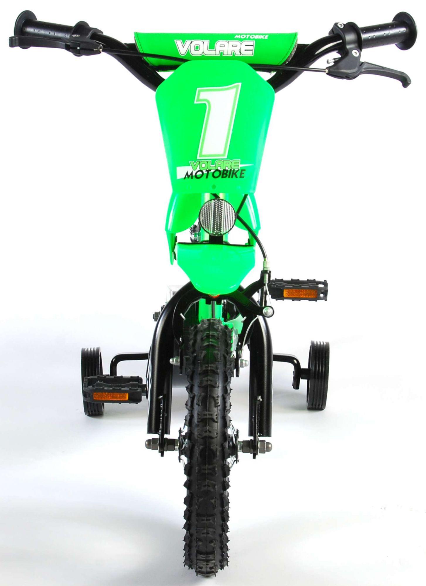 Bicicleta Motorbike de 12 pulgadas Verde - vista frontal