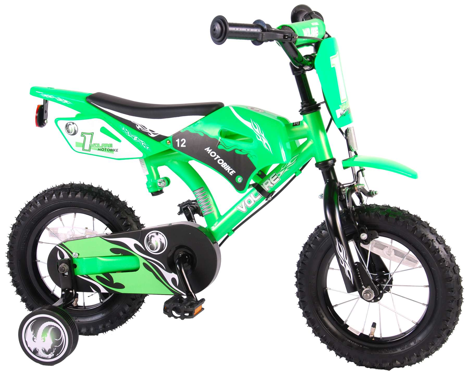 Bicicleta Motorbike de 12 pulgadas Verde