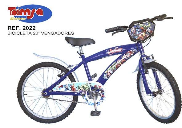 Bicicleta Los vengadores 20 pulgadas width=