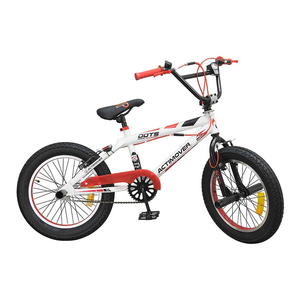 bicicleta 18 bmx freestyle roja blanca