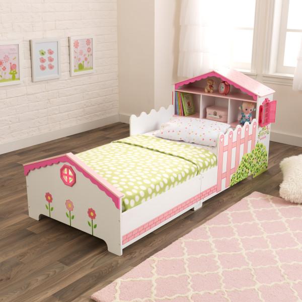 KidKraft Cama En Forma de Casa de Muñecas 76255 - vista cama