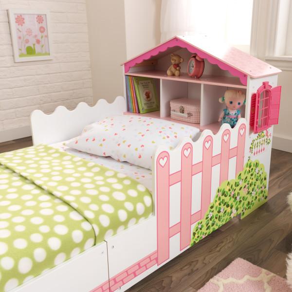 KidKraft Cama En Forma de Casa de Muñecas 76255 - vista frontal cama