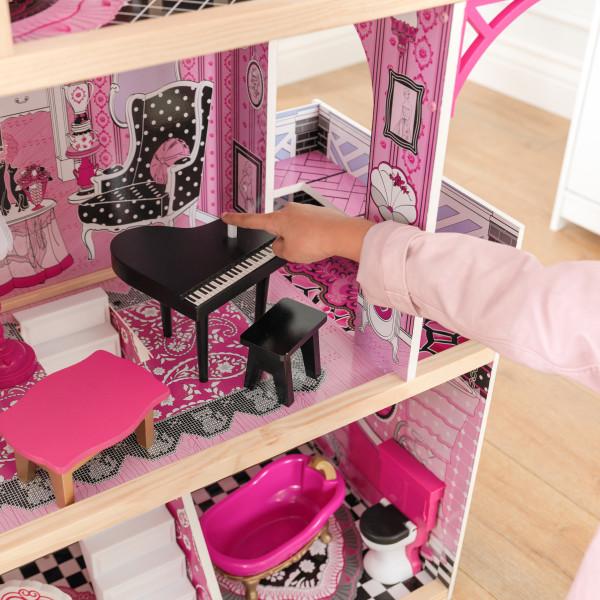 Detalle del piano y mesa de kidkraft casa de muñecas bella 65944 width=