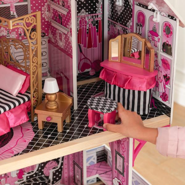 Detalle del tocador de kidkraft casa de muñecas bella 65944 width=
