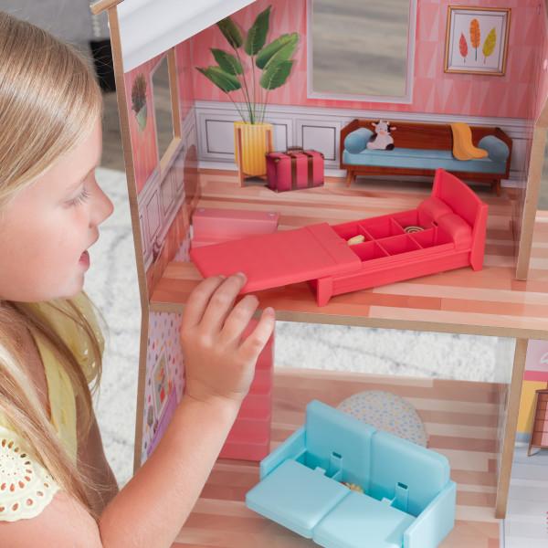 kidkraft casa de muñecas Charlie 10064 - habitacion