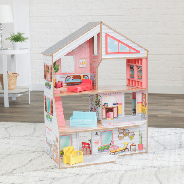 kidkraft casa de muñecas Charlie 10064 - vista casa trasera