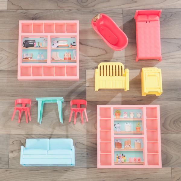 kidkraft casa de muñecas Charlie 10064 - muebles y accesorios