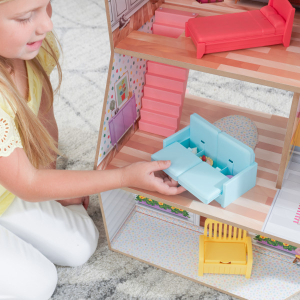 kidkraft casa de muñecas Charlie 10064 - sofa con almacenaje