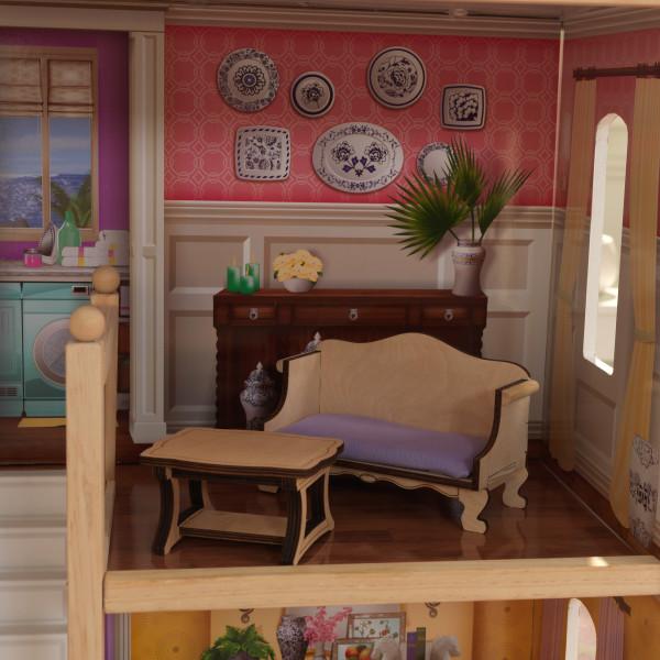 Detalle sofá y mesa del salón de kidkraft casa charlotte 65956 width=