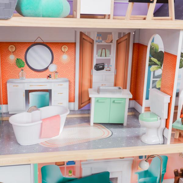 kidkraft casa de muñecas Dahlia 65987 - vista baño