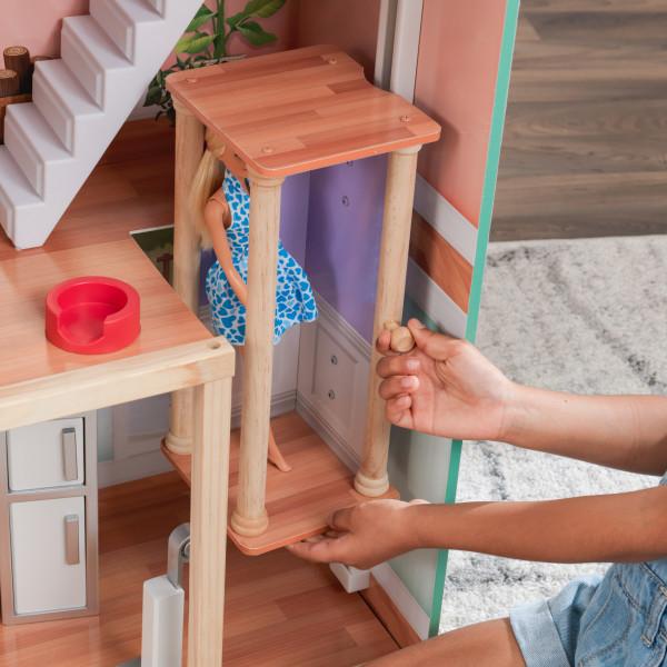 kidkraft casa de muñecas Dahlia 65987 - ascensor