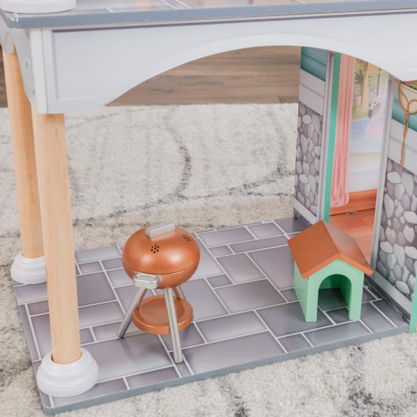kidkraft casa de muñecas Dahlia 65987 - zona barbacoa