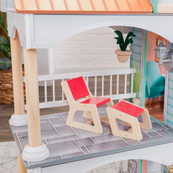 kidkraft casa de muñecas Dahlia 65987 - terraza